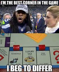 Richard Sherman Memes - nfl memes on twitter the best corner in the game sorry richard