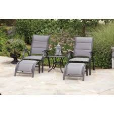 Patio Chairs With Ottoman 5 Piece Outdoor Leisure Furniture Set 2 Chairs Ottoman Table Patio