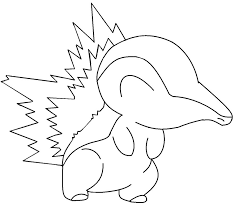 pokemon cyndaquil coloring pages cartoon photos