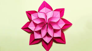 unique flower in origami style 3 modifications of paper flower