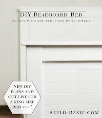 King Headboard Plans by Build A Diy Beadboard Bed U2039 Build Basic