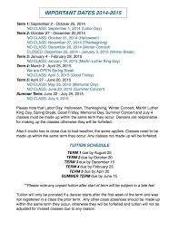 2014 2015 important dates academy of arts