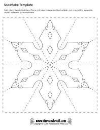 snowflake template templates pinterest paper snowflake