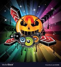 halloween free vector background halloween disco background royalty free vector image