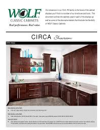 used kitchen cabinets york pa wolf classic cabinets showroom displays brochure by rock