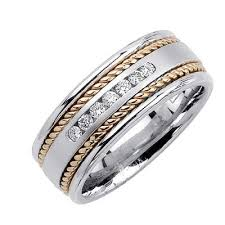 mens two tone wedding bands 8 5mm mens two tone diamond wedding bands