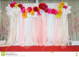 backdrop paper colorful backdrop paper flower with fabric arrangement stock photo