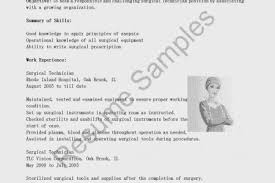 Psw Resume Examples by Surgical Tech Resume Objective Sample Reentrycorps