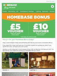 Homebase Decorating Homebase 5 Or 10 Voucher With Homebase Bonus This Weekend