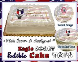 eagle cake topper eagle scouts edible cake topper or cupcakes picture rank boy sugar
