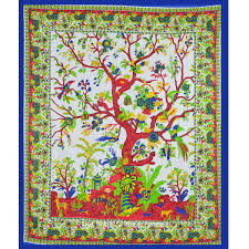 Bedroom Tapestry Wall Hangings Large White Tree Of Life Tapestry Wall Hanging Bedding Bedspread