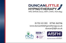 Hypnotherapy Business Cards Contact Duncan Little Hypnotherapy Plymouth