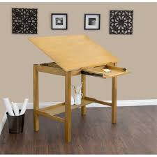 Lighted Drafting Table Studio Designs Americana Ii 48 Inch Wide Light Oak Wood Drafting