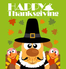 happy thanksgiving background with pilgrim hat ve vector image