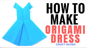 how to make origami dress easy tutorial for beginners paper