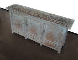vintage sideboard buffet media console in light blue custom