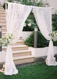 wedding backdrop simple simple birch lace wedding arbor tulle chantilly wedding
