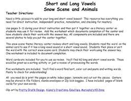 phonics long and short vowels winter christmas
