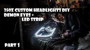 audi headlights poster diy 350z custom headlights part1 youtube