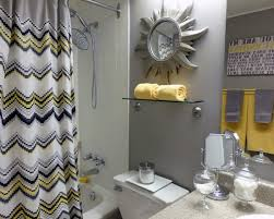 chevron bathroom ideas grey and yellow chevron bathroom home design and decorating