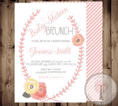 wording for brunch invitation baby shower invitation baby girl floral shabby chic baby