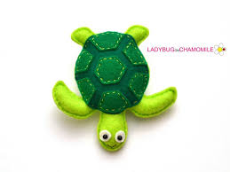 felt sea turtle stuffed felt sea turtle magnet or ornament