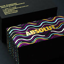 absolut business cards produced on premium black jukeboxprint