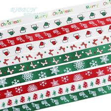 christmas ribbon wholesale 10 ribbons mixed 3 8 10mm top quality satin printed christmas