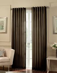 furniture brown bamboo ring curtain panels for modern interior