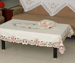 tablecloths decoration ideas white rectangular traditional fabric coffee table cloth designs