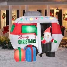 Outdoor Christmas Decor Amazon by Amazon Com Christmas Decoration Lawn Yard Inflatable Santa