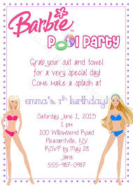 Best 25 Barbie Birthday Party by Barbie Clipart Birthday Invitation China Cps
