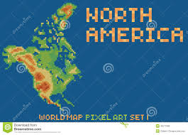 The Map Of North America by Map Of North America Blue Royalty Free Stock Image Image 7397816