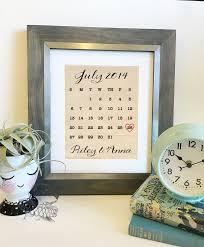wedding calendar cotton print personalized cotton 2nd
