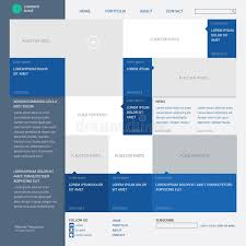 web layout grid template template website built on the 16 column grid stock vector