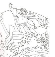 jesus calms the storm coloring pages qlyview com