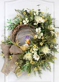 Easter And Spring Door Decorations by 222 Best Spring U0026 Summer Wreath Images On Pinterest Spring