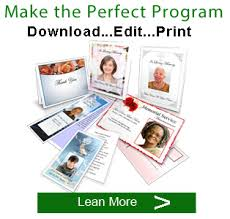 where to print funeral programs funeral program template support memorials