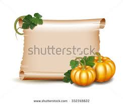 thanksgiving card wooden banner pumpkins leaves stock vector