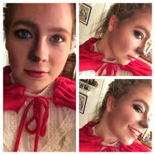 Little Red Riding Hood Makeup For Halloween by Halloween Makeup Little Red Riding Hood Half Wolf And Half