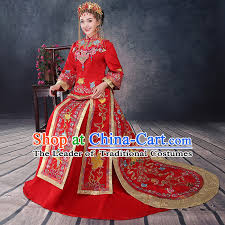 ancient chinese costume chinese style wedding dress red ancient