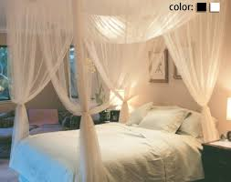 4 corner post bed canopy mosquito net full queen king size netting 4 corner post bed canopy mosquito net full queen king size netting white black bedding linens bedding home garden