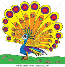 peacock color page eps vectors search clip art illustration