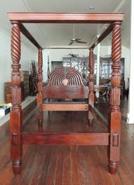 Courts Jamaica Bedroom Sets by West Indies British Colonial Mahogany Jamaican Waterfall Bed For