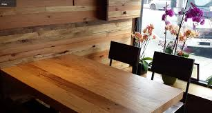 reclaimed wood restaurant table tops wako japanese restaurant in san francisco have our reclaimed wood on