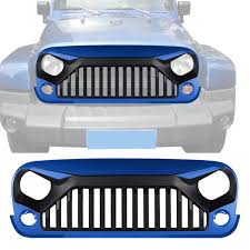 jeep gladiator 1975 front hydro blue black angry bird grille for jeep wrangler jk