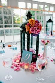 Lanterns For Wedding Centerpieces by Make A Wreath With Shower Colors Flowers And Then Lay Flat On
