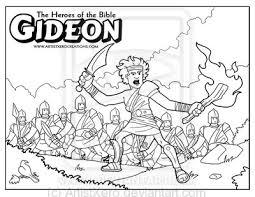 free printable bible coloring gideon gideon coloring