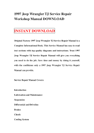 1997 jeep wrangler tj service repair workshop manual download