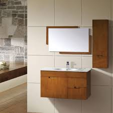 furniture natural rock accent wall and minimalist bathroom